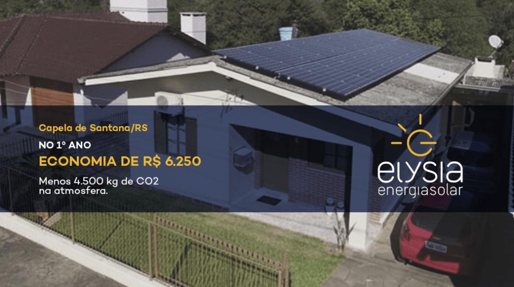 Energia solar em Capela de Santana - Elysia Energia Solar Porto Alegre Rio Grande do Sul