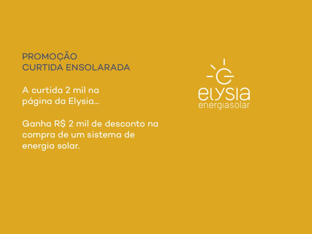 Promoção energia solar - Elysia Energia Solar Porto Alegre Rio Grande do Sul