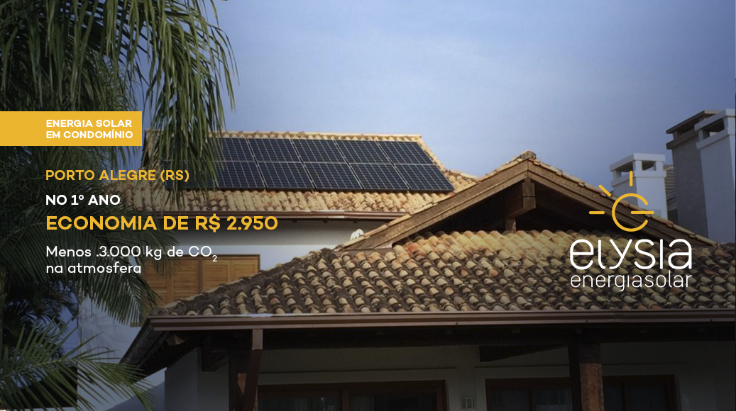 Energia solar em condomínio - Elysia Energia Solar Porto Alegre Rio Grande do Sul
