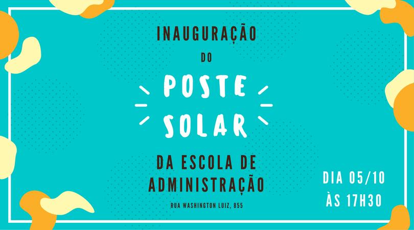 Elysia inaugura poste solar UFRGS - Elysia Energia Solar Porto Alegre Rio Grande do Sul