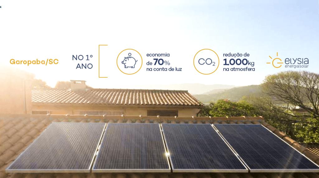 Energia solar em residência de Garopaba - Elysia Energia Solar Santa Catarina