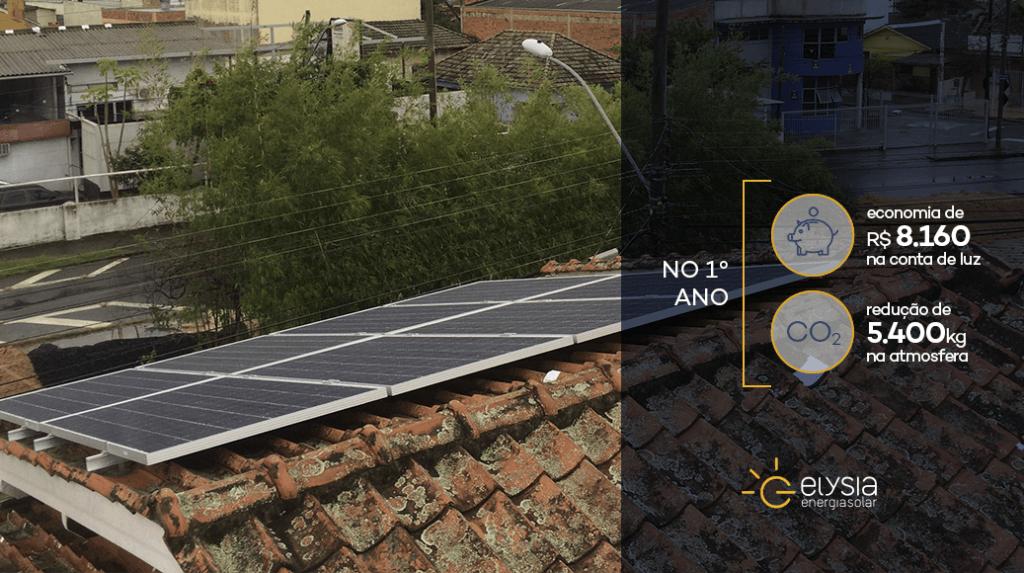 Sistema fotovoltaico na zona norte de Porto Alegre - Elysia energia solar Rio Grande do Sul