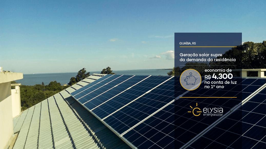 Energia fotovoltaica em Guaíba - Elysai energia solar Rio Grande do Sul