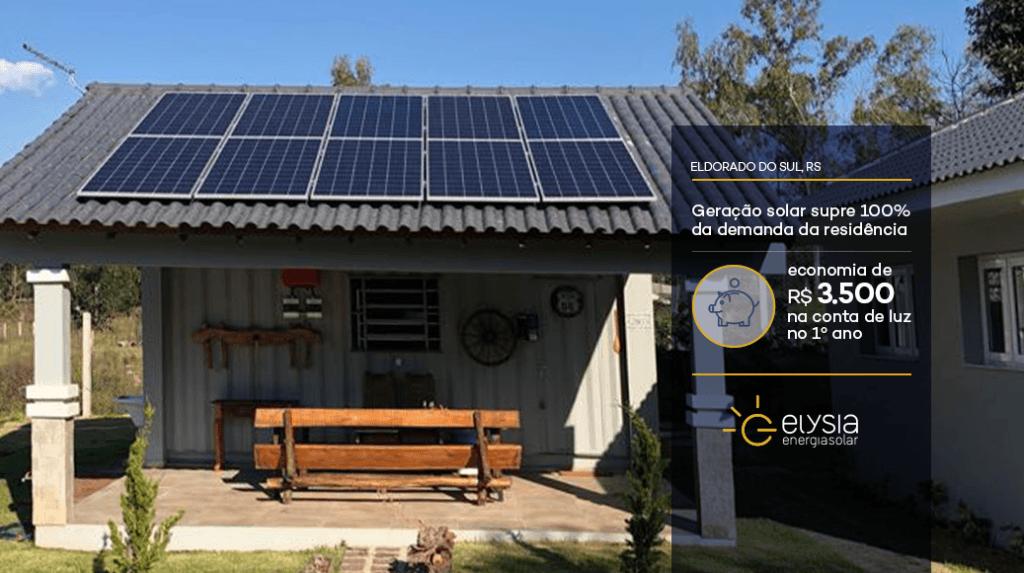 Energia fotovoltaica em Eldorado do Sul - Elysia energia solar Rio Grande do Sul