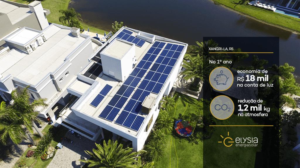 Energia solar na praia de Xangri-la - Elysia energia fotovoltaica Rio Grande do Sul