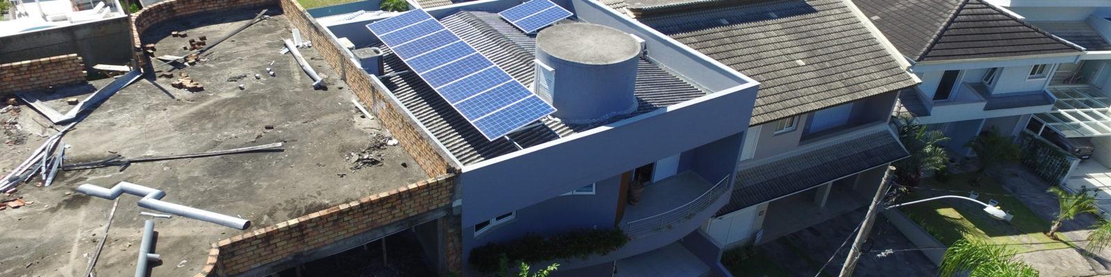 Sistema fotovoltaico na zona sul de POA
