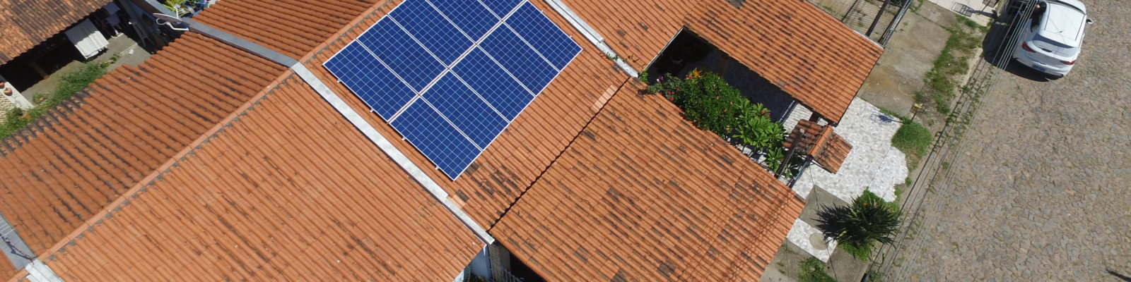Instalação de energia limpa e renovável na zona sul de Porto Alegre