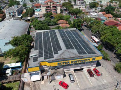 Energia solar em supermercado - Elysia sistema fotovoltaico Porto Alegre