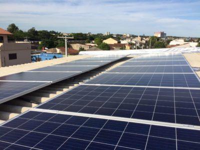 Instalação de energia fotovoltaica