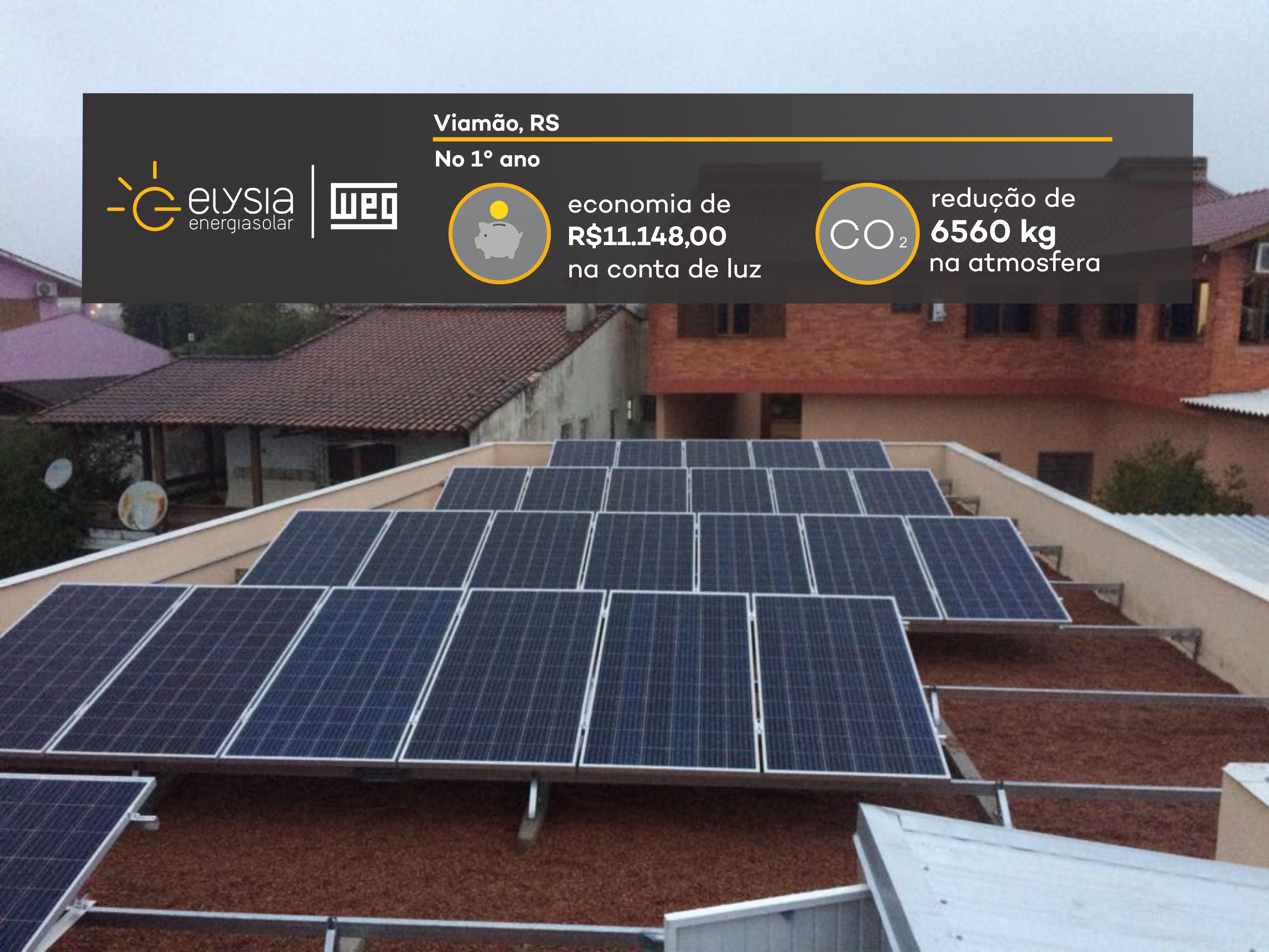 Instalação de energia solar em Viamão - Elysia sistema fotovoltaico Rio Grande do Sul