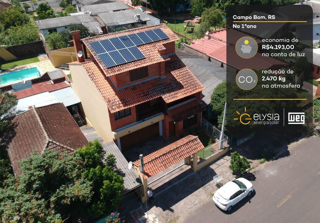 Sistema fotovoltaico em Campo Bom - Elysia energia solar Rio Grande do Sul