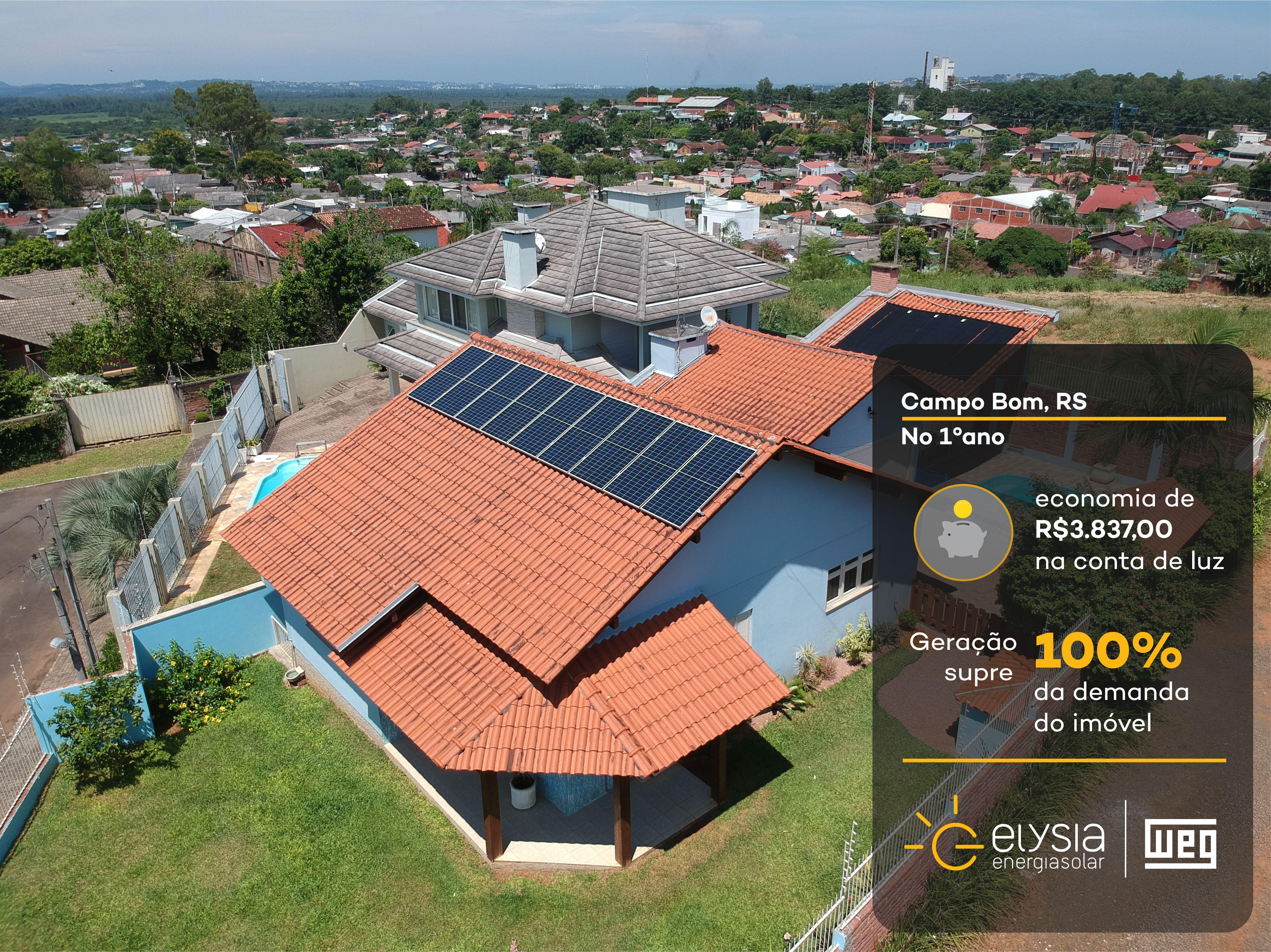 Solução completa de energia solar - Elysia sistema fotovoltaico RS