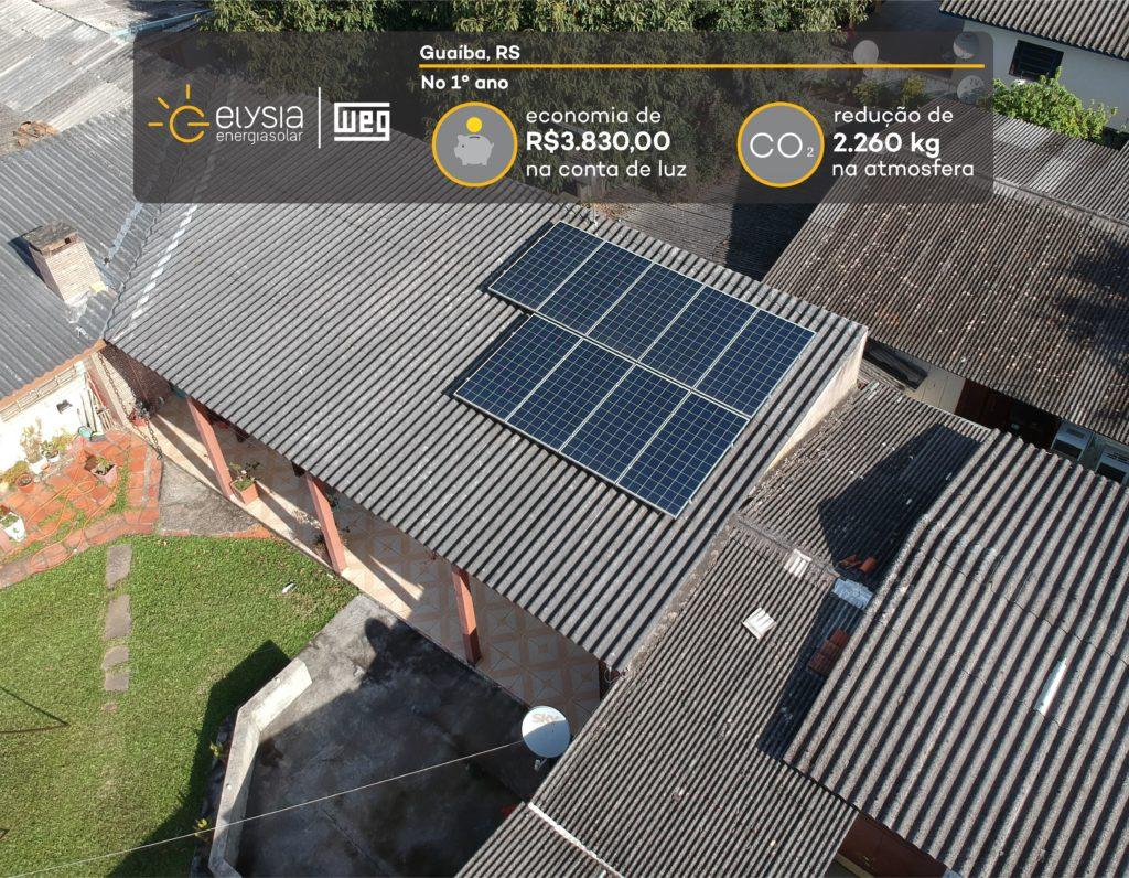 Energia fotovoltaica em Guaíba - Elysia energia solar Rio Grande do Sul