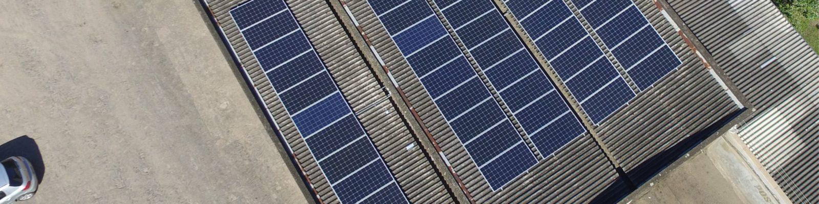 Sistema fotovoltaico comercial no RS - Elysia energia solar Osório