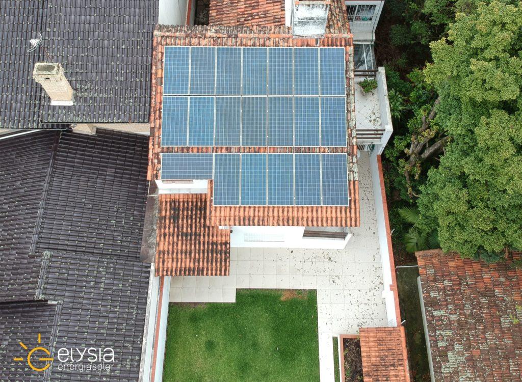 Sistema fotovoltaico residencial em Porto Alegre