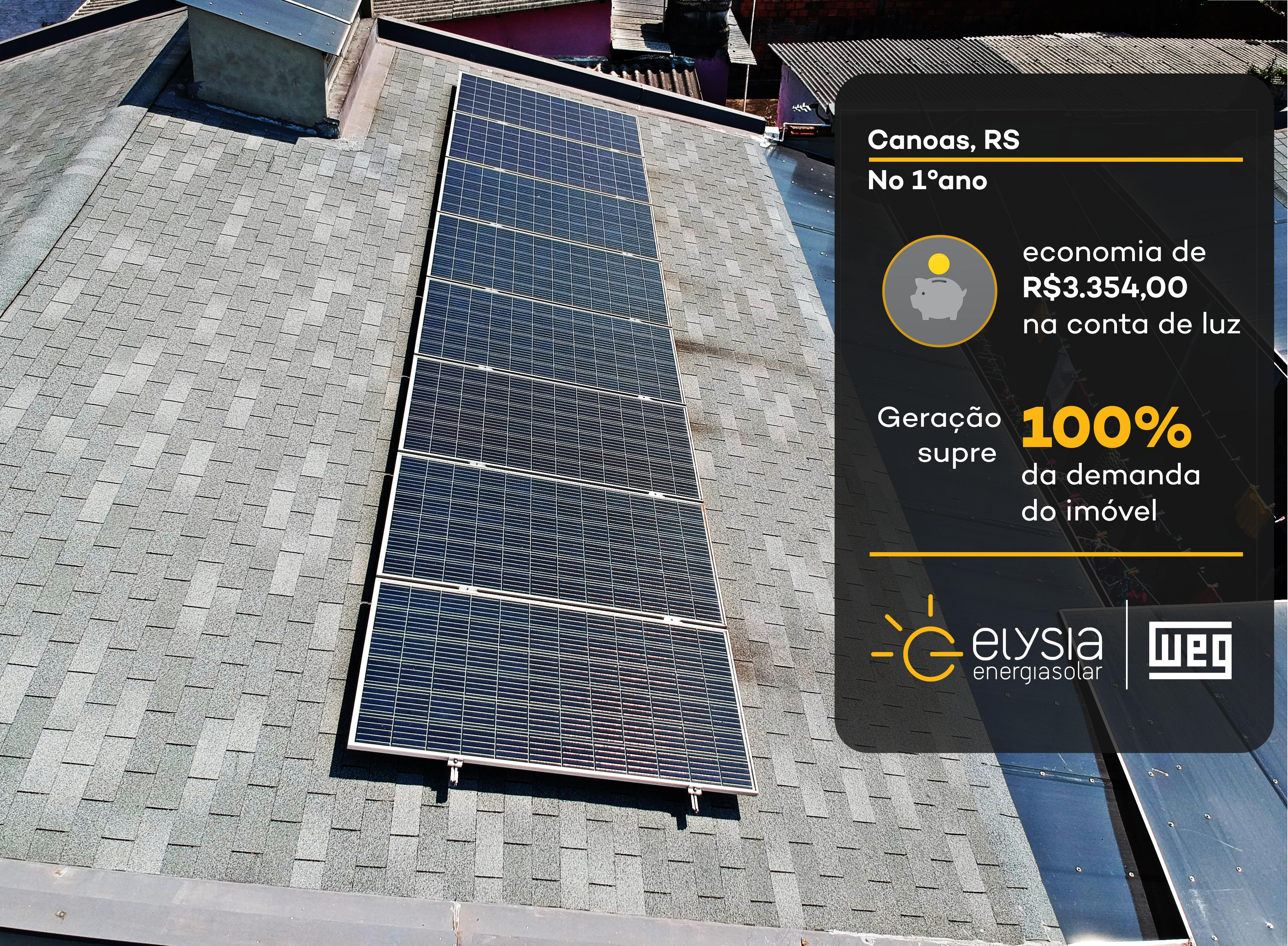 Projeto de energia fotovoltaica em Canoas - Elysia energia solar Rio Grande do Sul