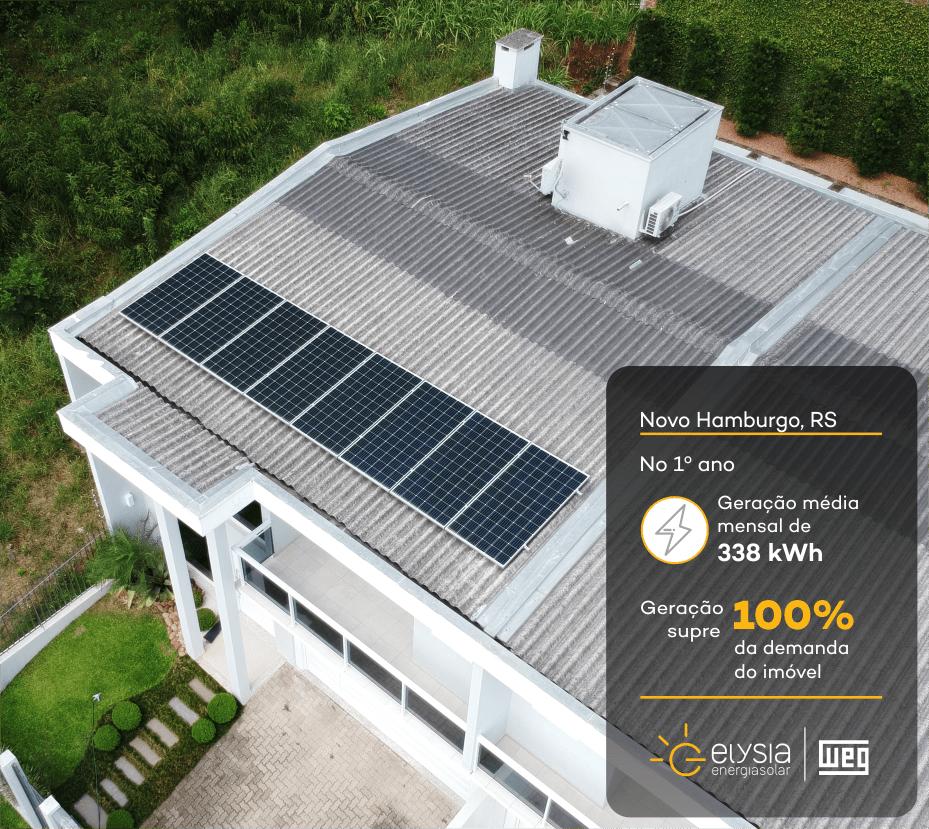Energia solar no Vale dos Sinos - Elysia sistema fotovoltaico Novo Hamburgo