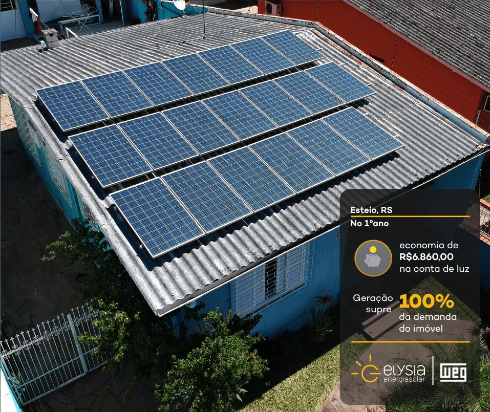 Sistema de energia fotovoltaica - Elysia energia solar Rio Grande do Sul