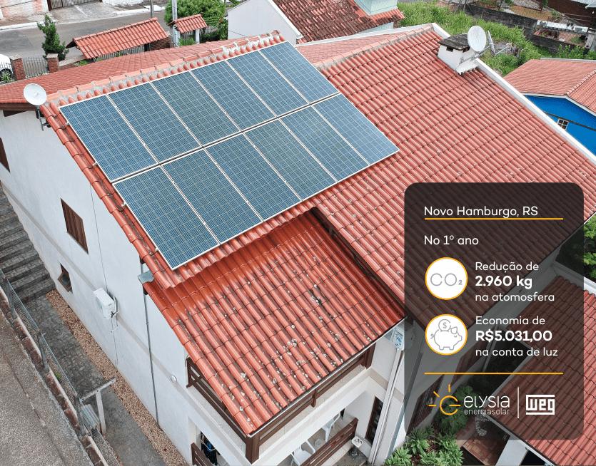 Projeto de energia solar em Novo Hamburgo - Elysia sistema fotovoltaico Rio Grande do Sul