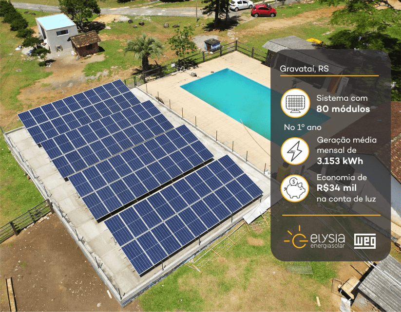 Elysia energia solar em Gravataí