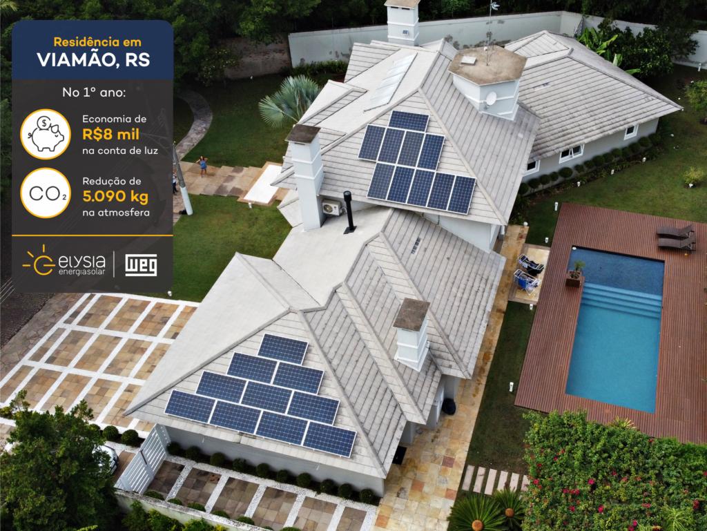 Solução completa de energia solar em Viamão - Elysia sistema fotovoltaico no Rio Grande do Sul