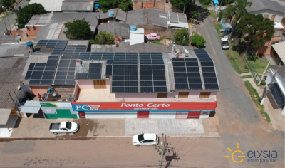 Energia solar comercial no Rio Grande do Sul - Elysia sistema fotovoltaico Gravataí