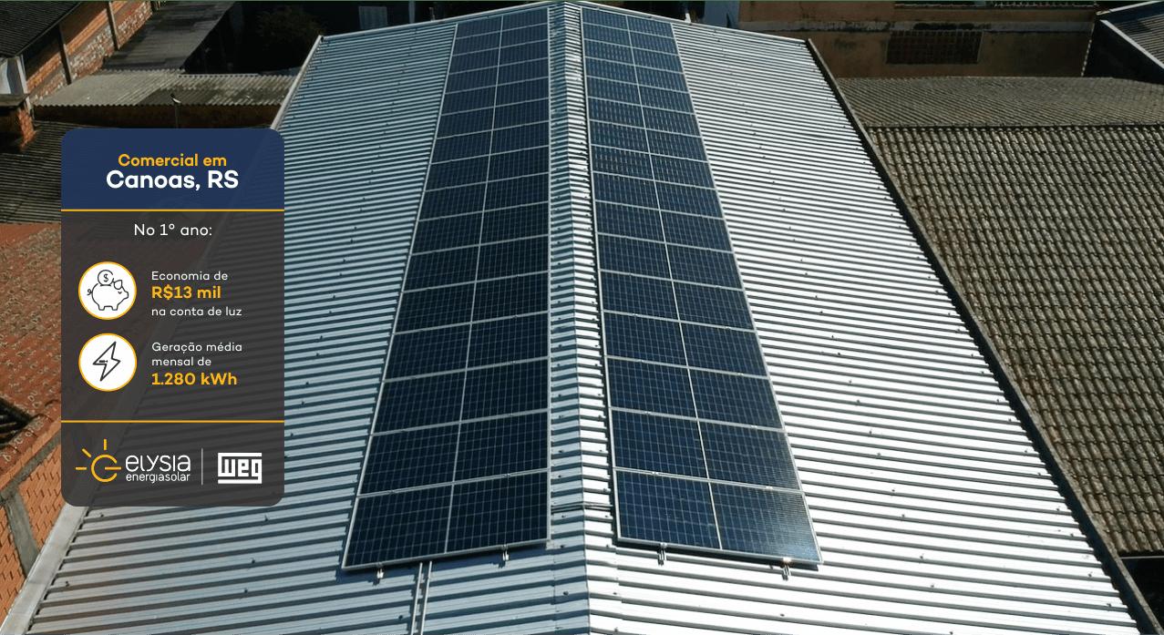 Canoas energia solar - Elysia sistema fotovoltaico RS