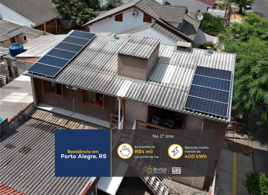 Energia solar em POA - Elysia sistema fotovoltaico RS
