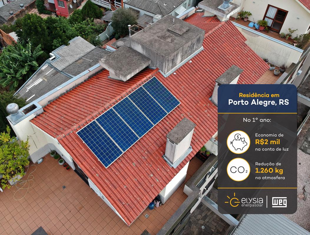 Sistema fotovoltaico compacto - Elysia energia solar Porto Alegre