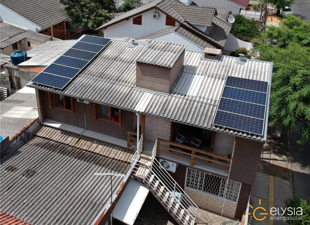 Energia solar no bairro Sarandi