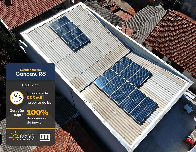 Solução completa de energia solar - Elysia sistema fotovoltaico em Canoas