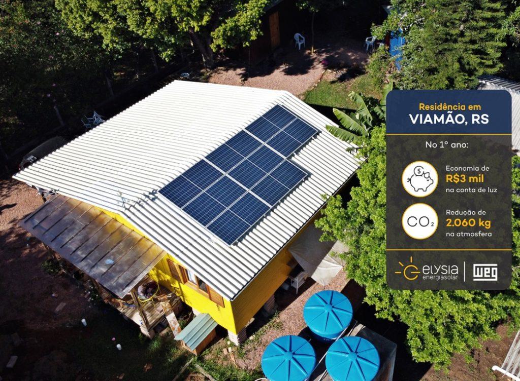 Sistema de energia solar residencial - Elysia fotovoltaica Rio Grande do Sul