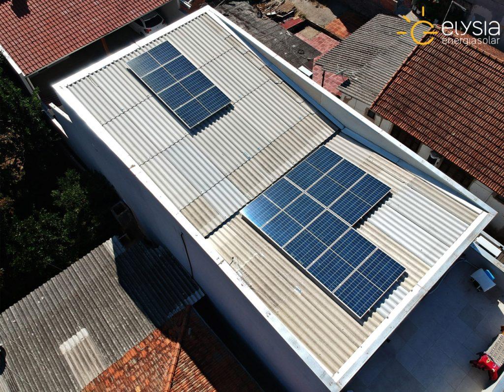 Sistema de energia solar fotovoltaica em Canoas