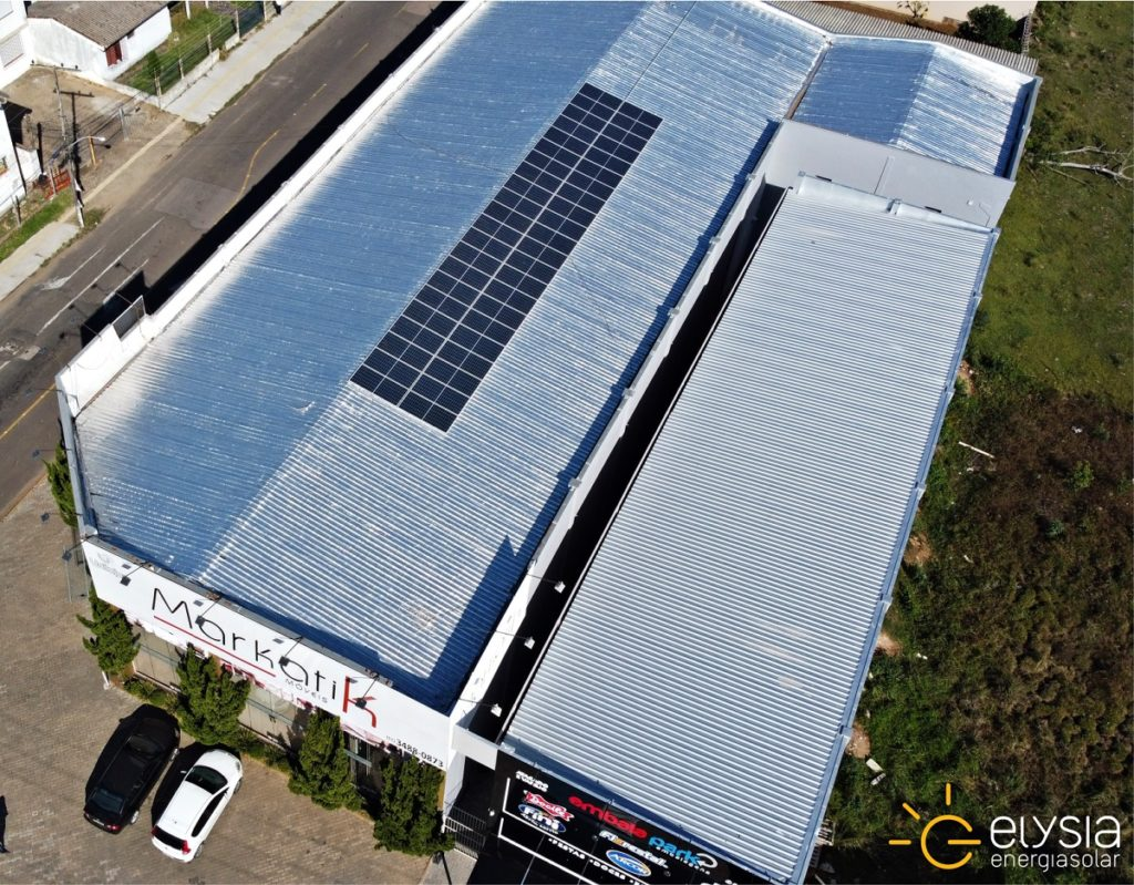 Energia solar empresarial - Elysia sistema fotovoltaico Rio Grande do Sul