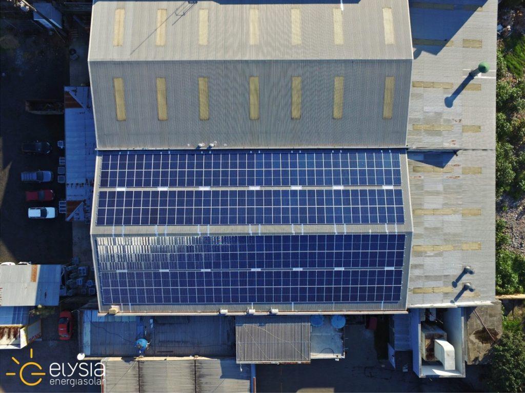 Energia solar em metalúrgica de Porto Alegre