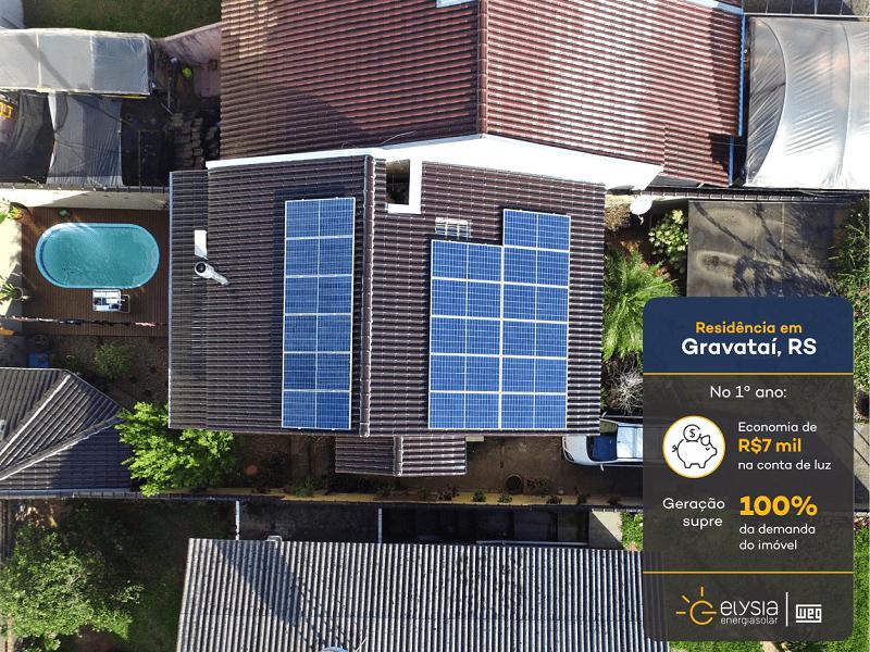 Casa sustentável em Gravataí - Elysia energia solar Grande Porto Alegre