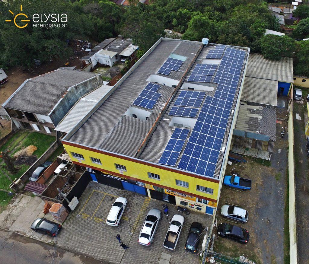 Empresa com sistema fotovoltaico - Elysia energia solar Rio Grande do Sul