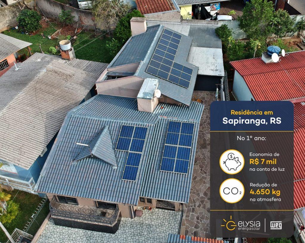 Energia solar em Sapiranga - Elysia sistema fotovoltaico Rio Grande do Sul
