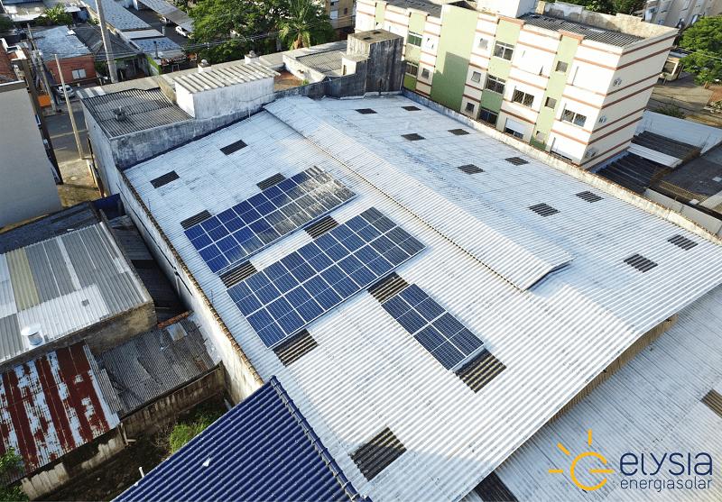 Comércio com energia solar em Porto Alegre - Elysia sistema fotovoltaico RS