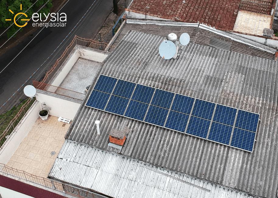Energia fotovoltaica em casa de Porto Alegre