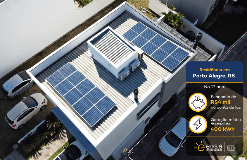 Energia solar Porto Alegre - Elysia sistema fotovoltaico RS