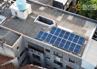 Energia solar em edifício residencial