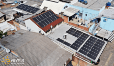 Energia solar em supermercado de Canoas - Elysia sistema fotovoltaico comercial