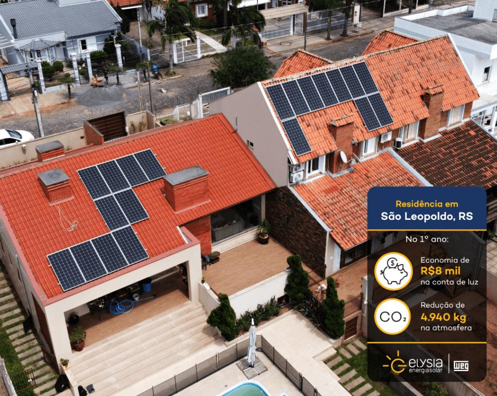Energia solar no Vale dos Sinos - Elysia sistema fotovoltaico RS