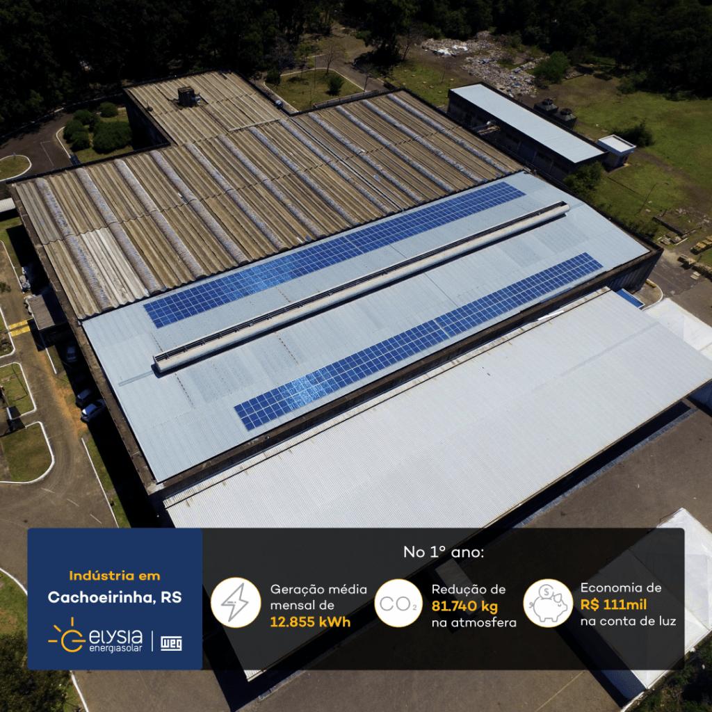 Energia solar MesaSul Cachoeirinha - Elysia energia fotovoltaica empresarial
