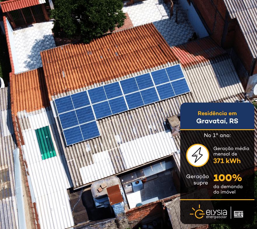 Energia solar Gravataí - Elysia sistema fotovoltaico Rio Grande do Sul