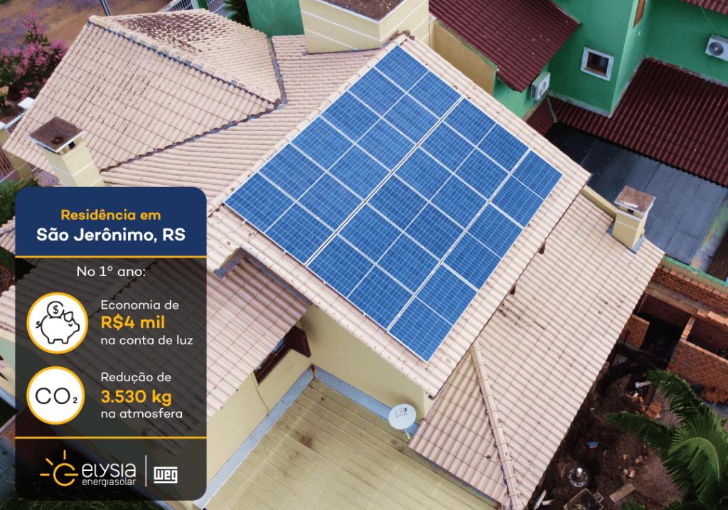 Energia solar São Jerônimo - Elysia sistema fotovoltaico região carbonífera