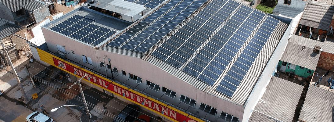 Mercado com energia solar Porto Alegre