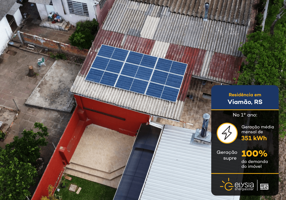 Energia solar Viamão - Elysia sistema fotovoltaico Rio Grande do Sul