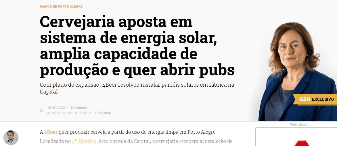 Elysia energia solar cervejaria de Porto Alegre - Portal GZH